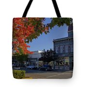 5th And G Street In Grants Pass With Text Tote Bag