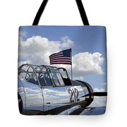 A Bt-13 Valiant Trainer Aircraft Tote Bag