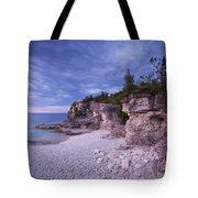 Georgian Bay Cliffs At Sunset Tote Bag