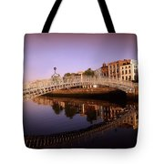 Hapenny Bridge, River Liffey, Dublin Tote Bag