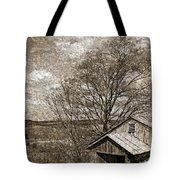 Rustic Hillside Barn Tote Bag