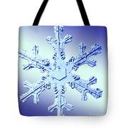 Snow Crystal Tote Bag