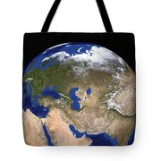 The Blue Marble Next Generation Earth Tote Bag by Stocktrek Images