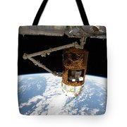 The Japanese H-ii Transfer Vehicle Tote Bag by Stocktrek Images