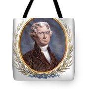 Thomas Jefferson (1743-1826): Tote Bag