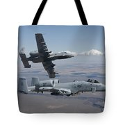 Two A-10 Thunderbolts Fly Tote Bag