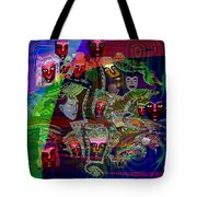 636 People Masks Tote Bag