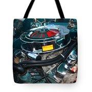 65 Plymouth Satellite Engine-8482 Tote Bag