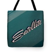 65 Plymouth Satellite Logo-8502 Tote Bag