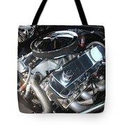 67 Black Camaro Ss 396 Engine-8033 Tote Bag