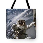 Astronaut Participates Tote Bag by Stocktrek Images