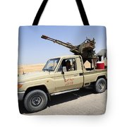 A Free Libyan Army Pickup Truck Tote Bag