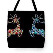 Reindeer Design By Snowflakes Tote Bag