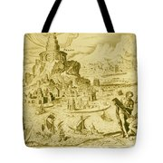 7 Wonders Of The World, Lighthouse Tote Bag