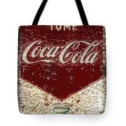 Coca Cola Classic Vintage Rusty Sign Tote Bag