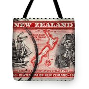 old New Zealand postage stamp Tote Bag