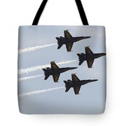 The Blue Angels Perform Aerial Tote Bag