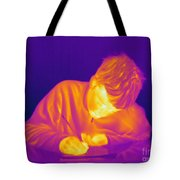 Thermogram Of A Boy Tote Bag