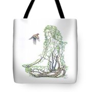Lotus Dancer Re-imagined Tote Bag