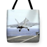 An Fa-18e Super Hornet Launches Tote Bag