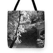 Bow Bridge In Black And White Tote Bag