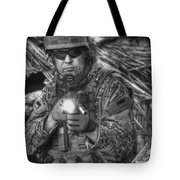 Hdr Image Of A German Army Soldier Tote Bag