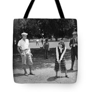Silent Film Still: Golf Tote Bag