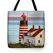 West Quoddy Head Lighthouse Tote Bag