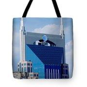 9th Avenue Att Building Nashville Tote Bag