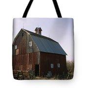 A Barn On A Farm In Nebraka Tote Bag