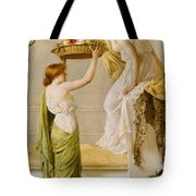 A Basket Of Roses - Grecian Girls Tote Bag