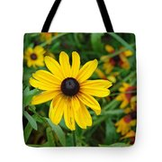 A Beautiful Close Up Of A Sunflower Tote Bag