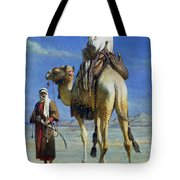 A Bedoueen Family In Wady Mousa Syrian Desert Tote Bag
