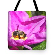 A Bee In A Rose Brpwc Tote Bag