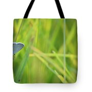 A Blue And Grass Tote Bag