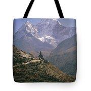 A Blue Sky And Mountain Range Tote Bag
