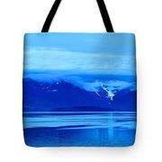 A Blue Slice Of Alaska Coast Tote Bag