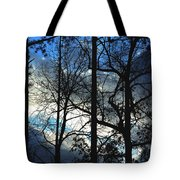 A Blue Winter's Eve Tote Bag