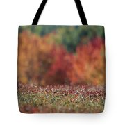 A Blueberry Patch Alongside Maines Tote Bag