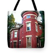 A Brick House With A Turret Tote Bag