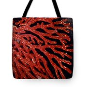 A Bright Red Gorgonian Soft Coral Tote Bag