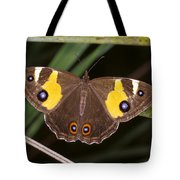 A Brightly Colored Brown And Yellow Tote Bag