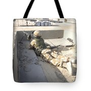 A British Soldier Provides Security Tote Bag by Andrew Chittock