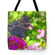 A Butterfly On The Pink Flower Tote Bag