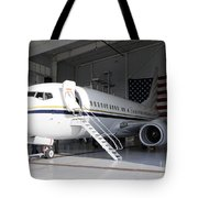A C-40 Clipper In A Hangar Tote Bag