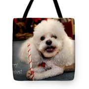 A Candycane For Puppy Tote Bag