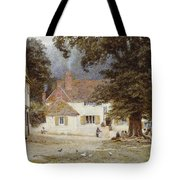 A Cart By A Village Inn Tote Bag