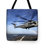 A Ch-53e Super Stallion Prepares Tote Bag