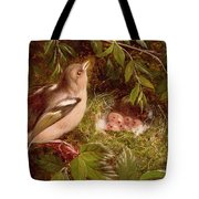 A Chaffinch At Its Nest Tote Bag