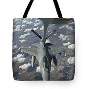 A Chilean Air Force F-16 Refuels Tote Bag